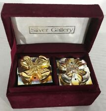 Vintage Godinger Silver Gallery Gold & Silver Gift Box Shakers