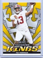 "TUA TAGOVAILOA 2020 LEAF ""TOUCHDOWN KINGS"" GOLD ROOKIE CARD #90! ALABAMA!"