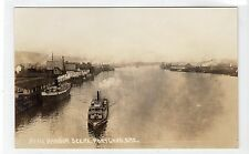 HARBOR SCENE, PORTLAND: Oregan USA postcard (C10303)