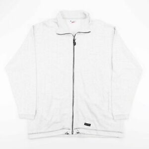 Vintage CHAMPION Grey Full Zip Sports Sweatshirt Jacket Men's Size Large