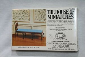 The House Of Miniatures Chippendale Day Bed Dollhouse Kit 1:12 #40043 NEW Sealed