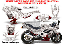 Amr racing décor Graphic Kit suzuki gsx-r 600/750/1000/1300 Bone Collector B
