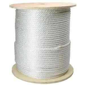 "Nylon Rope 3/8"" x 1000' White or Black Premium Heavy Duty"