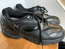 Aetrex Shoes X801 Sneakers Size 9.5W Black Leather Great Condition