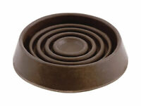 Shepherd Hardware  Rubber  Round  Caster Cup  Brown  1-1/2in W x 1-1/2in L 4 pk