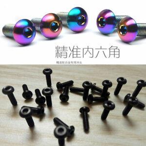 20pcs Titanium M2 M2.5 M3 M4 *8/10/12/15/18/20mm Round Head Bolts Alen Screws