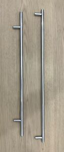 Solid Large T Bar Kitchen Cabinet Pull Handles Cupboard Polished Stainless Steel