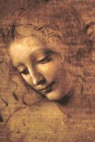 Leonardo Da Vinci Head of A Woman La Scapigliata High Renaissance Poster 12x18 i
