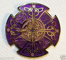 Celtic Knot XLE - Gold & Purple - New Geocoin Unactivated