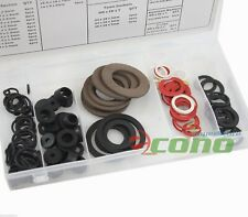 125PC WASHER RUBBER ASSORTMENT O-RING HOSE GASKET FLAT AUTO GROMET SET KIT