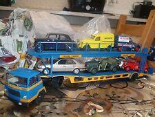 camion miniature 1.43ieme..Camion Unic..transports de voitures + 6 autos