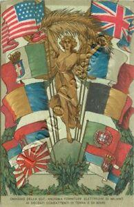 Prima guerra mondiale - Omaggio ai soldati dalla società elettrica di Milano