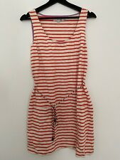 Boden Size 12 Stripey Dress Used Summer Dress Red/white