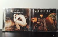 Lot of 2 Creed CDs: My Own Prison, Weathered