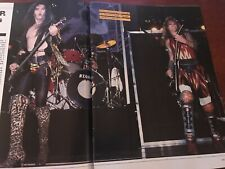 1986 Vintage 4 Pg Print Article/Photo Spread On Wasp Sounds Off W.A.S.P. Blackie