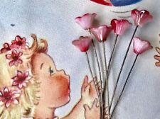 Glass Flower Stamen,Vintage Glass Flower Stems, Flower Headpins,Stamens #211A