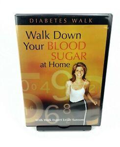 Walk Down Your Sugar At Home (DVD) - Diabetes Walk LESLIE SANSONE *NEW/SEALED