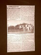 San Mauro di Romagna nel 1924 La casa dove nacque Giovanni Pascoli