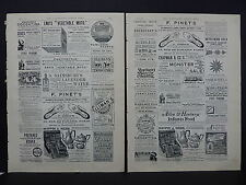 Illustrated London News Ads Two Pages c.1888 S3#3 F. Pinet's Boots and Shoes