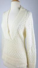 MINT$158 *ANN TAYLOR* Wool Blend SPARKLE Glitter OPEN KNIT SWEATER Top XS S