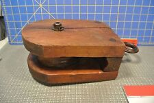 Antique Wood Pulley Primitive