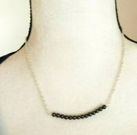 Necklace Hematite Pendant Natural Stone Sterling Sliver Boho Gift Ideal