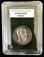 1866m Maximiliano 50 Centavos
