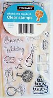 When's the Big Day Wedding Clear Acrylic Stamp Set by Fiskars Stamps