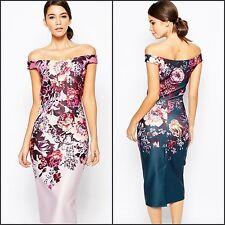 Wiggle/Pencil Formal Floral Regular Size Dresses for Women