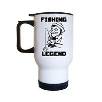 FISHING LEGEND Travel Mug | Dad | Grandad | Fish | Fishin | Fathers Day Gifts