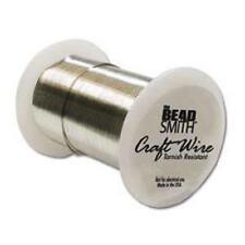 Beadsmith 28 Gauge Craft Wire- 40Yd/36.5M, Non-Tarnish SILVER