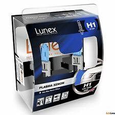 2x LUNEX H1 PLASMA XENON Headlight Halogen Bulbs 12V 55W P14,5 5000K Hard Case