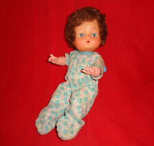 """Vintage 1960's Plastic Rooted Brownish Red Hair 10"""" Baby Doll"""
