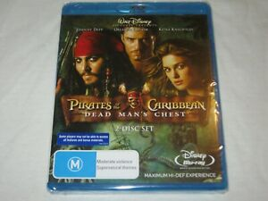 Pirates Of The Caribbean Dead Man's Chest - New & Sealed - Region All - Blu Ray