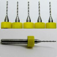 ".0098/"" 0.25mm #87 FIVE PCS Carbide Drill Bits 1//8/"" shaft cnc model R//S .160/"" LOC"