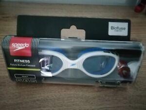 BNIB Speedo Adult Goggles Futura Biofuse Flexiseal RRP: £17