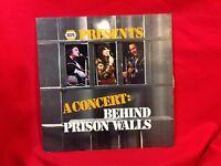 NAPA Presents A CONCERT: BEHIND PRISON WALLS Pointed Star PS 10178 33rpmLP [jm2]