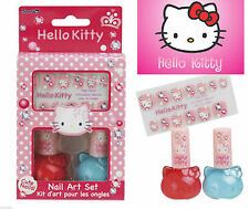 NEW~HELLO KITTY NAIL ART SET INCLUDES POLISH (2) & CUTE NAIL STICKERS (12)