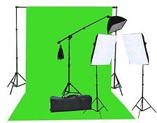 Fancierstudio 2000 Watt  Lighting Kit with 10'x12' Chromakey Green Screen and...