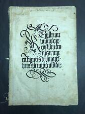 Weltchronik Hartmann Schedel 1493 Konvolut (20 Blätter) Chronicle
