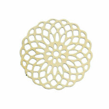 10Pcs Gold Plated Hollow Flower Filigree Stamping Embellishment Connectors Tools