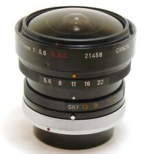 Canon FISH-EYE LENS 7.5mm f/5.6 Lens S.S.C breechlock FD EXC + + #32277