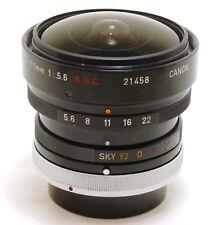 Canon Fish-Eye Lens 7.5mm f/5.6 FD S.S.C Breechlock lens EXC++ #32277