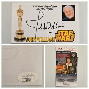 Star Wars Composer John Williams Signed Autograph 3x5 Index Card JSA - FREE S&H!