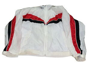 VINTAGE 90s Fila  Windbreaker Jacket Red & Blue Men's Size Large!!