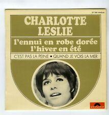 45 RPM EP CHARLOTTE LESLIE L'HIVER EN ETE
