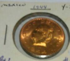 1944 CINCO CENTAVOS coin MEXICO uncirculated BU Free Shipping