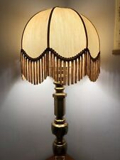 VINTAGE VICTORIAN DOWNTON BOUDOIR STYLE BESPOKE  SCALLOPED FRINGED LAMP SHADE