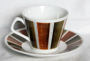 """Vintage """"Bermuda"""" Cup and Saucer Set - Lord Nelson Pottery"""