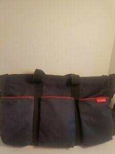 Skip Hop Double Duo Signature Diaper Bag Black Twins XL